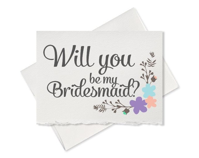Cute rustic will you be my bridesmaid box cards will you be my maid  matron of honor bridesmaid bridesman bridal party wedding card