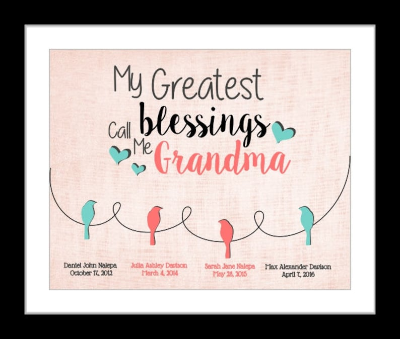 Grandma Gift Mothers Day Gifts Birthday