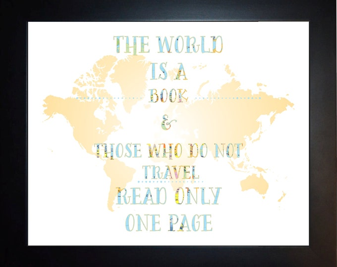 The World Is A Book Wall Art, Home Decor, Art Prints, Canvas And Framed Options, Card Option