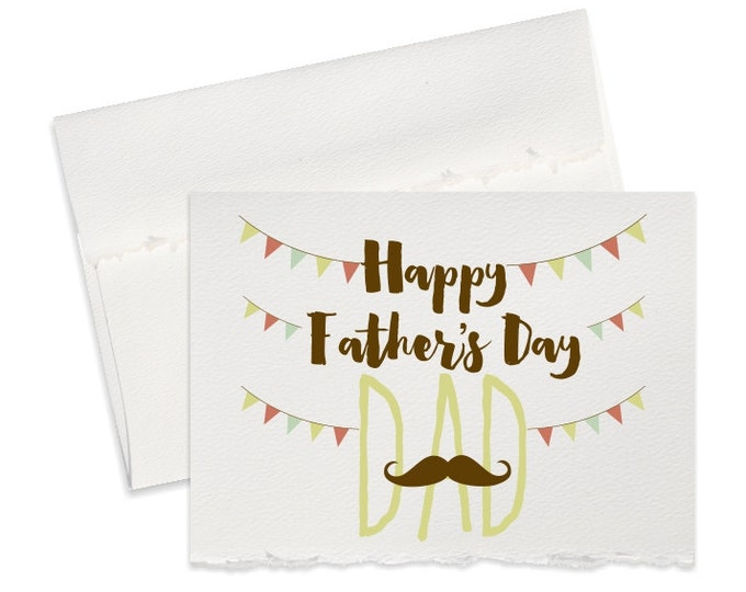 Mustache Fun Fathers day card for dad, Silly Funny Father's Day greeting cards for dad goofy dad card happy fathers day gift dad cards