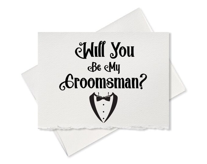 Elegant wedding, groomsman card, will you be my groomsman, card from groom to ask wedding party, will you be my groomsman wedding invitation