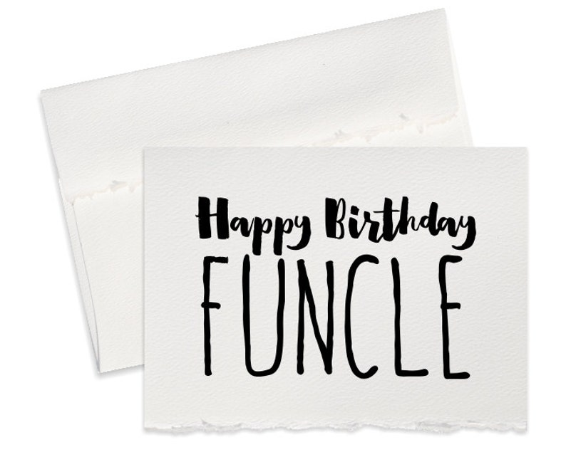 Funny Birthday Card For Uncle Happy Greeting