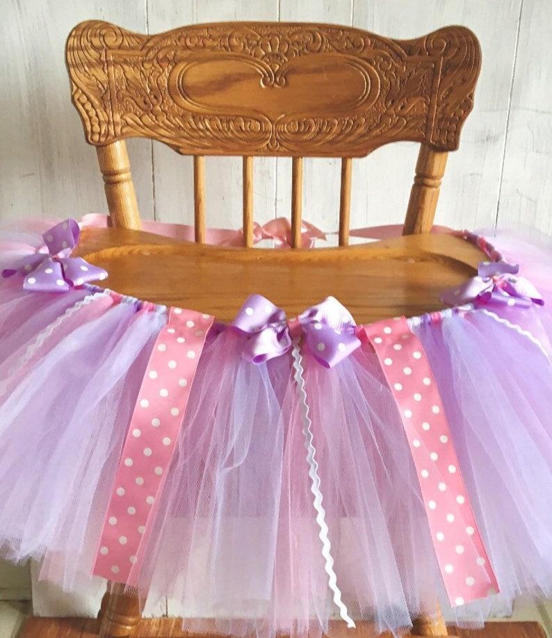 Daisy Duck Birthday High Chair Tutu Banner Pink Purple