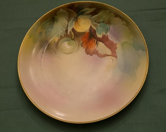 """Beautiful hand painted plate - Nippon, Japan.  Marked with """"M"""" for the artist - lovely colors"""