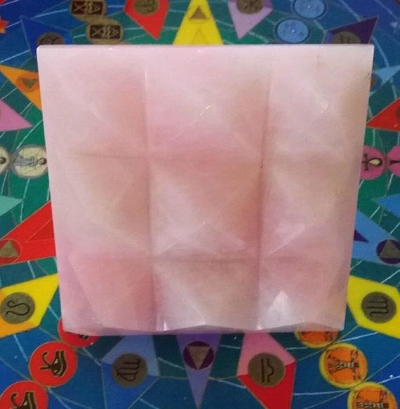 Amethyst Reiki Pyramid Reiki Healing Engraved Reiki Healing Pyramids Vastu