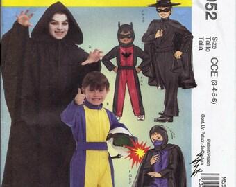2c285748 Race Car Driver, Batman, Ninja, Zorro and Ghoul costumes pattern in  Children's sizes McCalls 5952 UNCUT & FF (2009) K0797