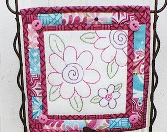K3506 Falls for This /& That #205 2012 Nice and Easy Notes pattern for a pieced and embroidered notepad cover designed by Sherri K