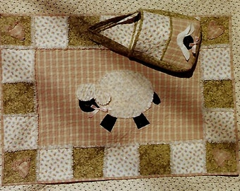 d212c9a20 Lambie Lullaby quilt pattern for an appliqued quilt and tote bag from Pearl  Louise Designs  413 K1671