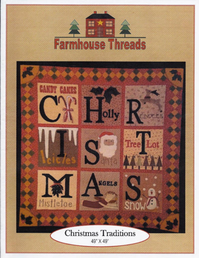 Rhonda Mccray; 2020 Christmas Pdf; -Pinterest K0954 2014 Christmas Traditions pattern for a felted wool appliqu