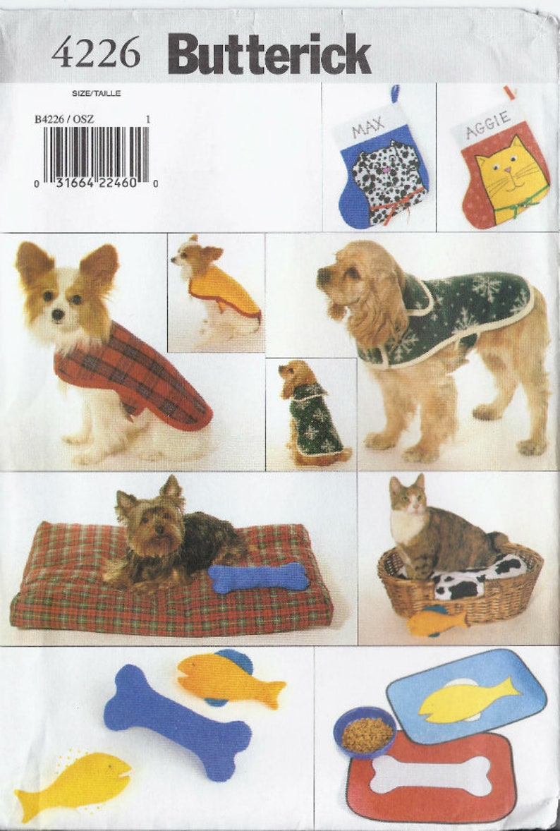 4db213be2be Dog and Cat Accessories pattern for placemats beds stuffed