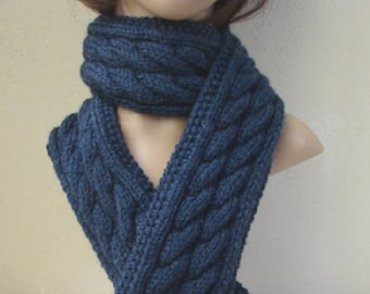 Knitting Pattern Scarf Celtic Braid Scarf Irish Cable Cable Etsy