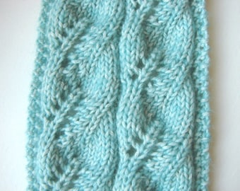 Knitting Pattern Scarf Knit Tutorial Scarf With Cables Aran Etsy