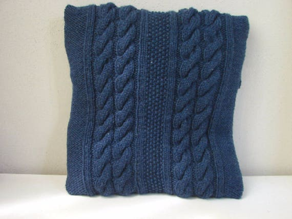 Calico Collection Cable Knit Pillow