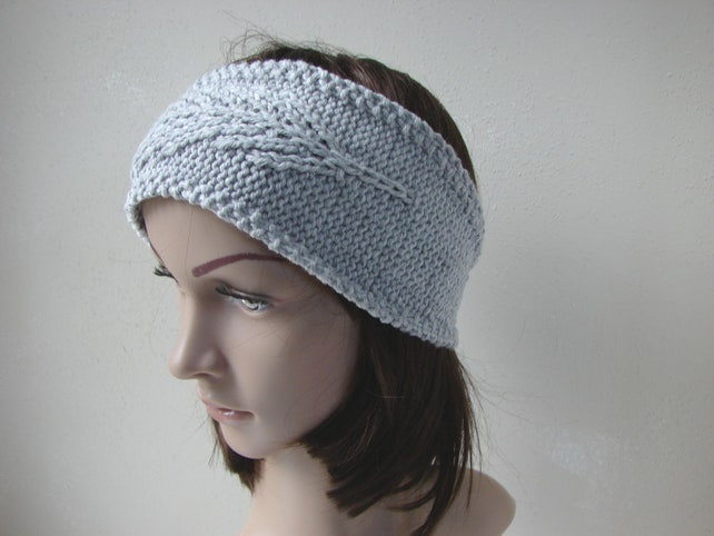 Knitting Pattern Feather Headband Cable Knit Ear Warmer Etsy