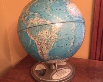 Rare world globe etsy vintage rand mcnally world portrait globevintage planet globe gumiabroncs Gallery