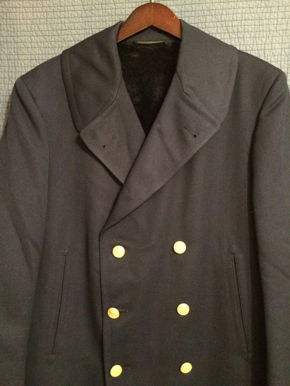 Sale!Vintage Reefer/Coast Guard/Captain Jacket/Dale Fashions Inc. h55Hx