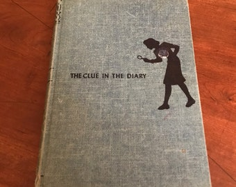 Vintage Nancy Drew The Clue in the Diary/Nancy Drew Blue Book/ 1st Edition Nancy Drew
