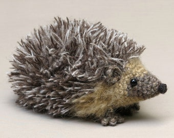 Realistic crochet hedgehog amigurumi pattern