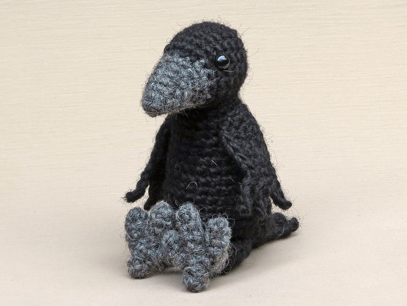 Crowly the raven or crow amigurumi pattern image 0