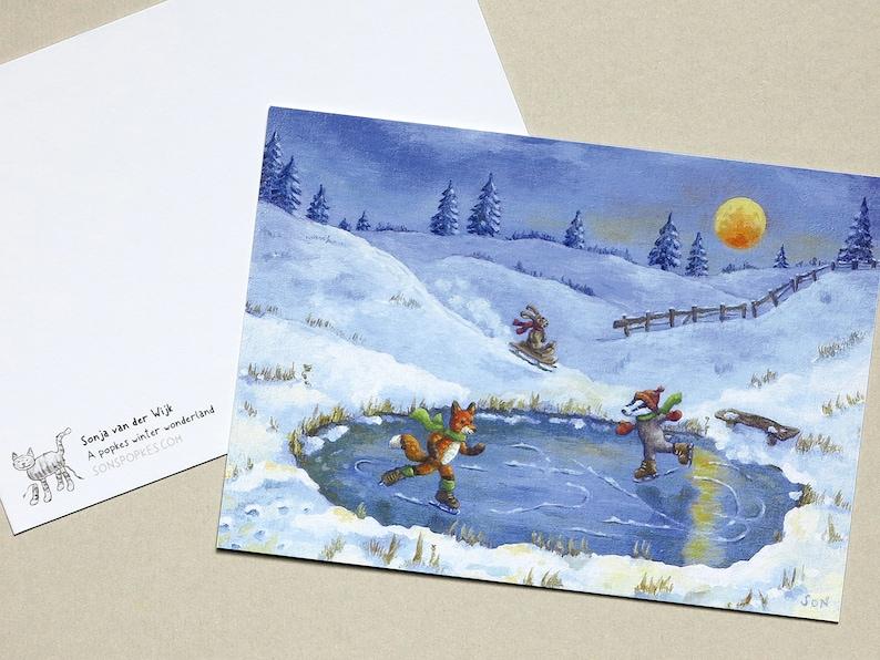 Postcard & Christmas card 'A popkes winter image 0