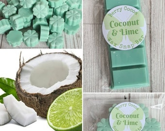 COCONUT AND LIME Wax Melts, Lime Scent, Coconut Lime, Coconut and Lime Fragrance, Home Fragrance, Lime Wax Melts, Coconut Wax Melts