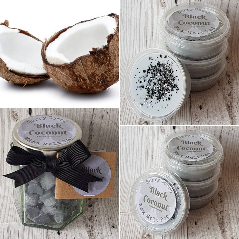 Black Coconut Wax Melts, Black Coconut Mini Melts, Coconut Wax Melts, Black  Coconut Scent, Black Coconut Fragrance, Coconut Scent