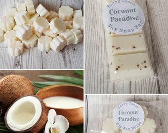 Coconut Paradise Wax Melts, Coconut Wax Melts, Coconut Fragrance, Coconut Tarts, Coconut Scented Wax Melts, Coconut Snap Bar, Perfume Dupes