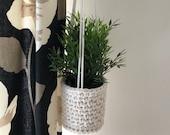 Succulent planter, hanging planter, plant pot, crochet basket, eco friendly home, indoor plant hanger, custom colour