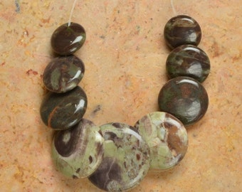 Natural Multi Color Agate  pendant bead set (#J742)