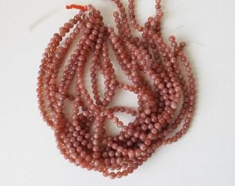 """Rare Natural Strawberry Quartz 6 mm round  beads 14""""   ( #J1287)"""