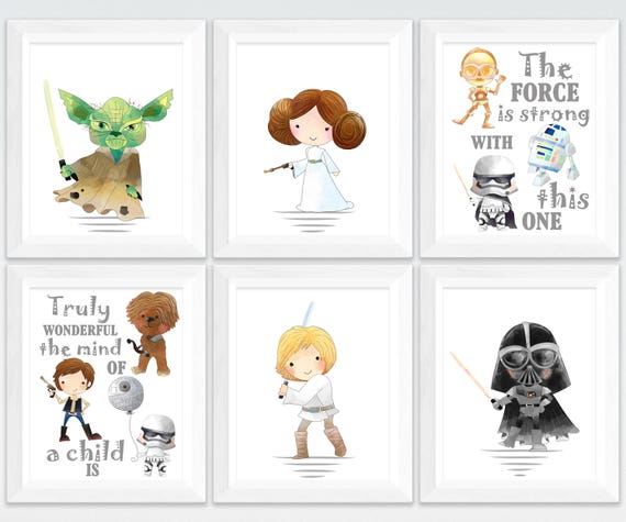 graphic relating to Star Wars Printable identify Star wars nursery printable artwork fixed, star wars small children place wall artwork, printable nursery Yoda offers, the strain is durable decor obtain