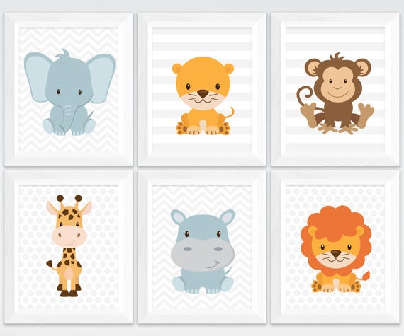 photo regarding Printable Jungle Animals called Nursery printable safari and jungle pets wall artwork fastened, lion hippo giraffe monkey nursery wall artwork, youngsters space wall decor obtain