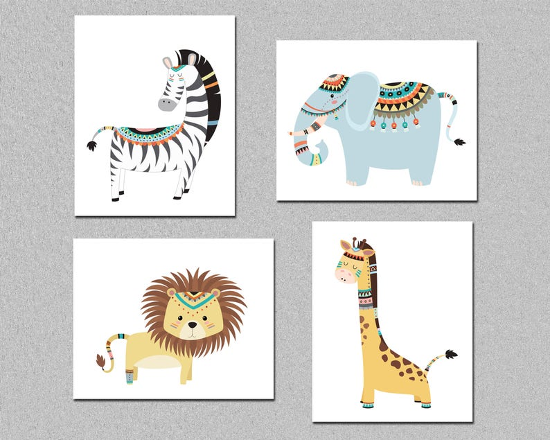 image about Printable Safari Animals named Tribal nursery printable artwork, printable safari pets artwork fixed, lion zebra giraffe nursery wall artwork, playroom wall decor, obtain