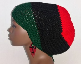 c764146d8c6 Pan-African Dreadlock Tam Hat Cap