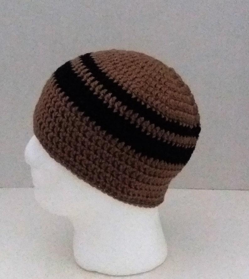 Mens Crochet Beanie Mens Crochet Hat Two Toned Camel Etsy