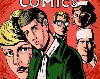 Trabajo Comics#1- Black and White- Grayam Green