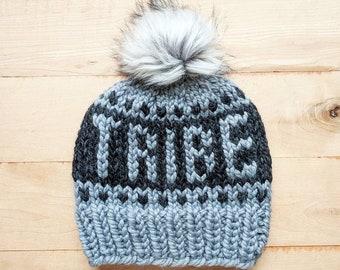 6827d0dc0 READY TO SHIP Tribe Beanie 3.0 Chunky fair isle knit hat | Etsy