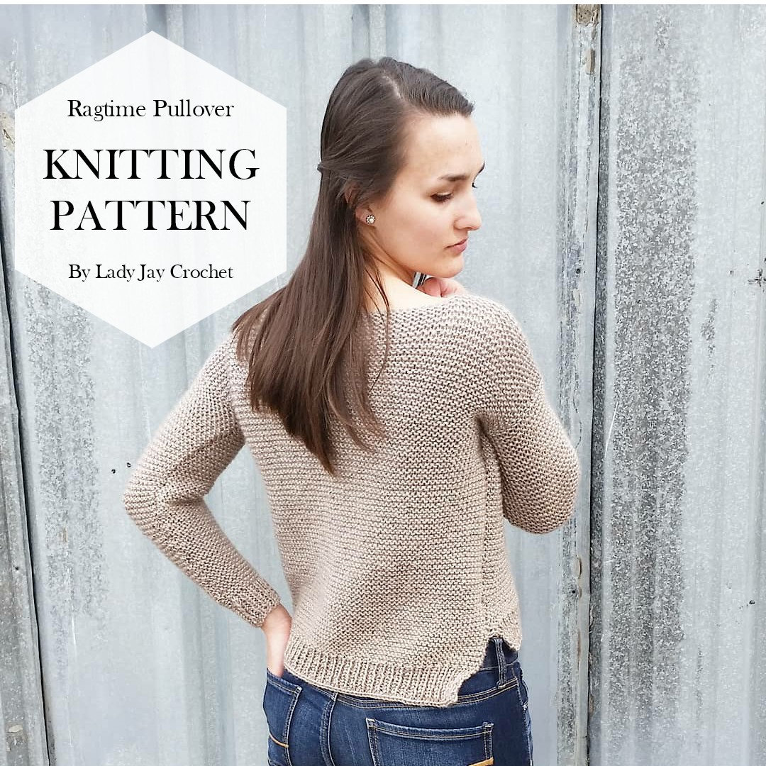 PATTERN: The Ragtime Pullover | Easy oversized knit sweater pattern ...