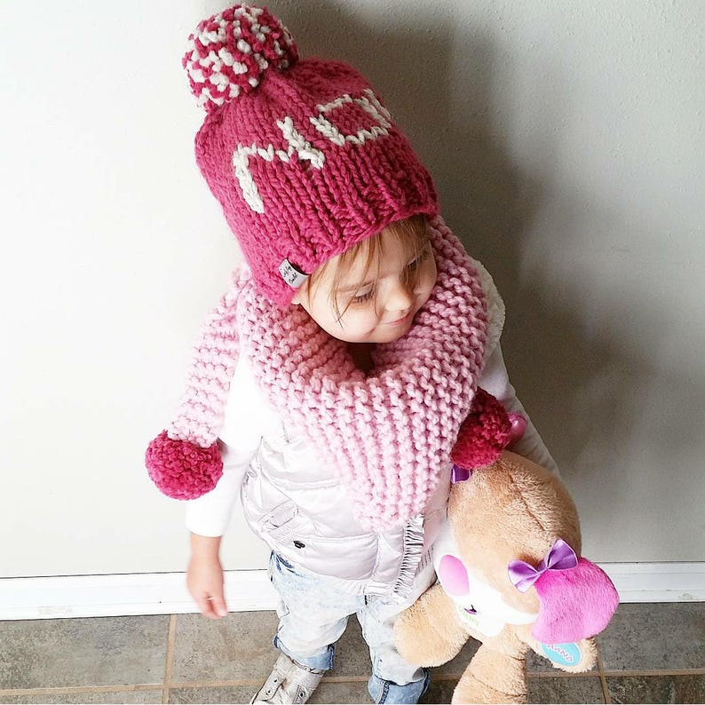 5e04883fc2c PATTERN  NO Toddler Hat Toddler Word Collection Knit word
