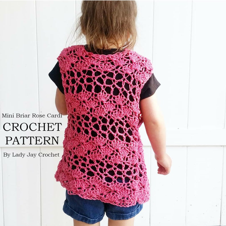 6afc64bed PATTERN  MINI Briar Rose Cardi Crochet vest Crochet summer