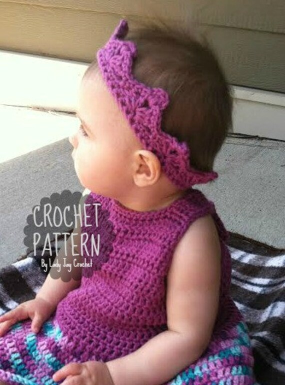 PATTERN : Prince and Princess Crown Easy DIY crochet tiara | Etsy