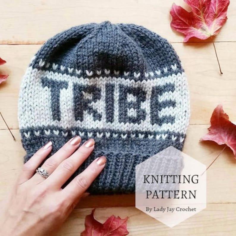 a64bb5de PATTERN: Tribe Beanie diy fair isle hat knitting pattern | Etsy