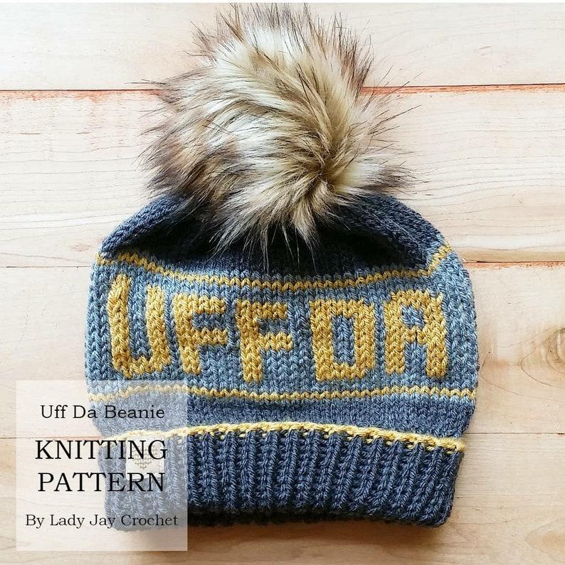 ef827d03afe PATTERN  Uff Da Beanie Scandinavian Hat Fair Isle Knit