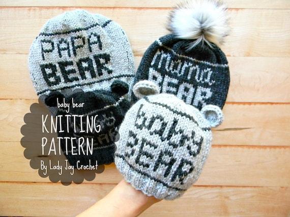 PATTERN  Baby Bear Beanie Hat with bear ears Infant winter  d69f744fb7e