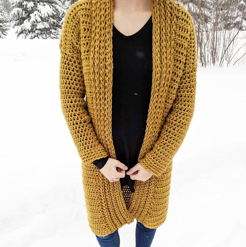 efa15e83c46 PATTERN  Solveig Cardigan Crochet cardigan design Long