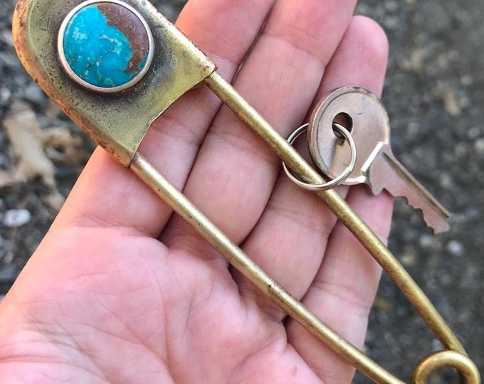 Fox Turquoise Keychain