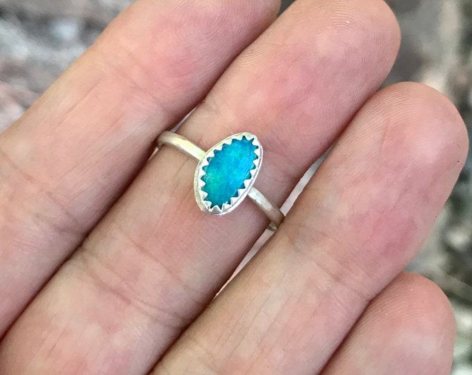 Size 7 Opal Stacking Ring