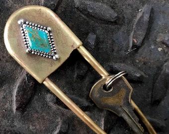 Royston Turquoise Keychain
