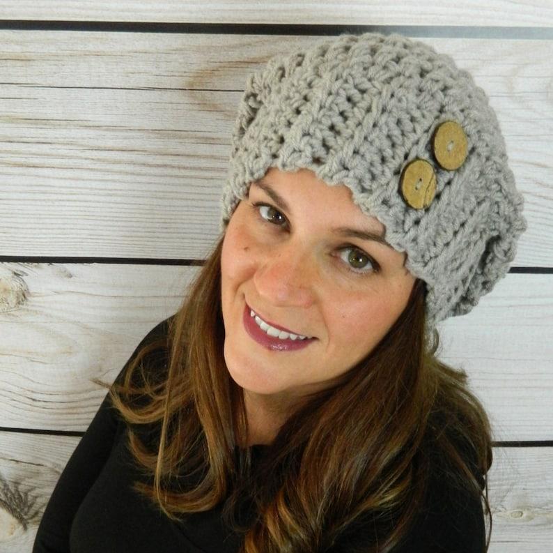d36e61848b9 Slouchy Hat Crochet Slouchy Beanie Slouch Hat