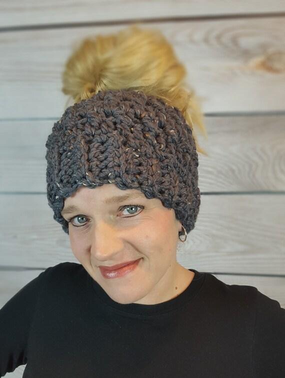 3d95cf6df7a Messy Bun Hat Messy Bun Beanie Ponytail Hat Bun Hat
